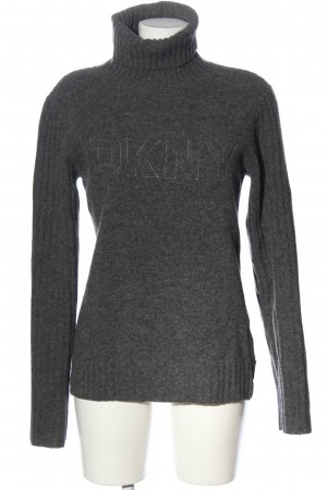 DKNY Jeans Rollkragenpullover hellgrau meliert Casual-Look