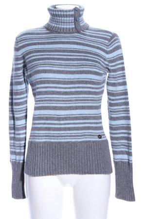DKNY Jeans Rollkragenpullover blau-hellgrau meliert Casual-Look