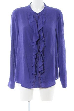 DKNY Jeans Rüschen-Bluse blau Business-Look