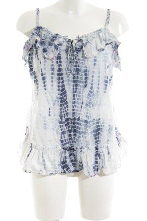 DKNY Jeans Rüschentop blau-weiß Farbverlauf Elegant