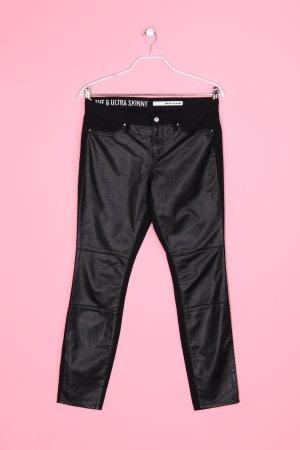 DKNY JEANS - Skinny-Hose mit Faux Leather-Details - L