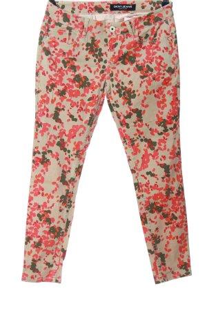 DKNY Jeans Jeansy z prostymi nogawkami Abstrakcyjny wzór W stylu casual