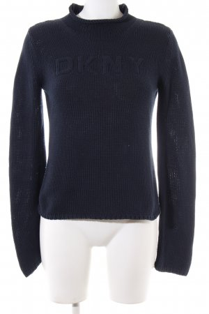 DKNY Jeans Strickpullover blau Casual-Look