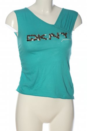 DKNY Jeans T-Shirt türkis Casual-Look