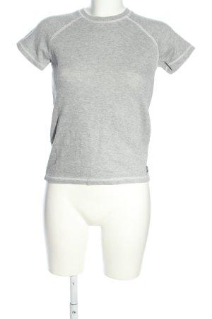 DKNY Jeans T-Shirt hellgrau meliert Casual-Look