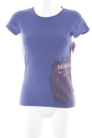 DKNY Jeans T-Shirt blau Casual-Look