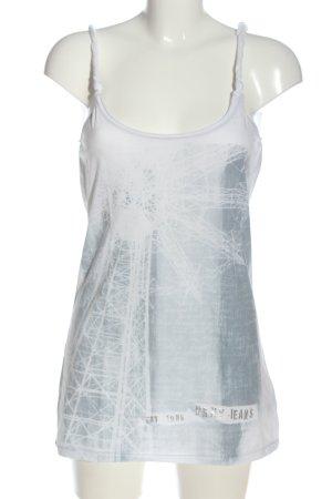 DKNY Jeans Trägertop weiß-hellgrau Motivdruck Casual-Look