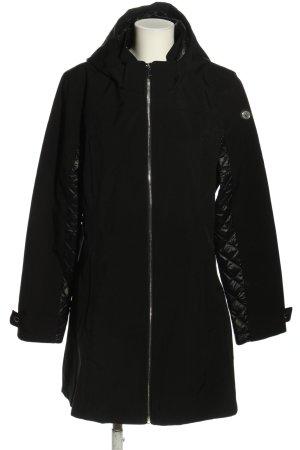 DKNY Veste à capuche noir motif de courtepointe style décontracté
