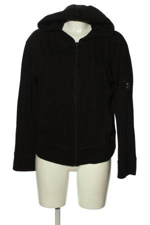 DKNY Sudadera con capucha negro letras impresas look casual