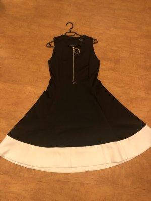 DKNY Vestido con enagua negro-blanco