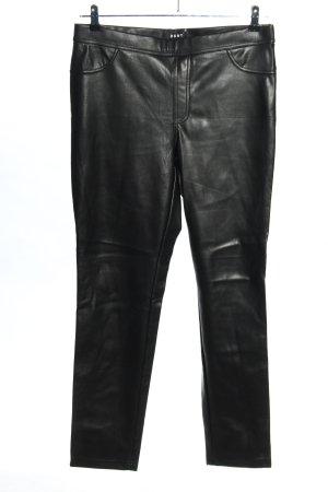 DKNY Kunstlederhose schwarz Casual-Look