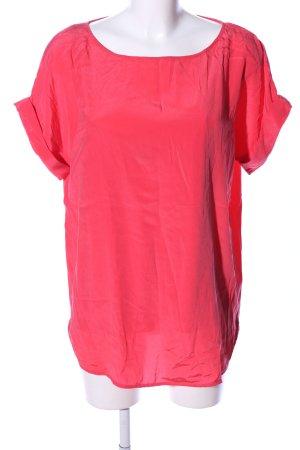 DKNY Kurzarm-Bluse rot Casual-Look