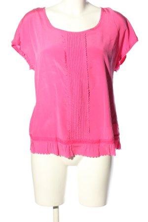DKNY Kurzarm-Bluse pink Casual-Look