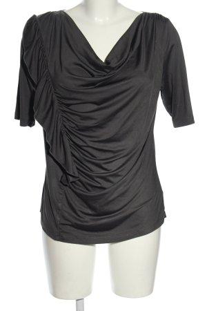 DKNY Kurzarm-Bluse schwarz Casual-Look