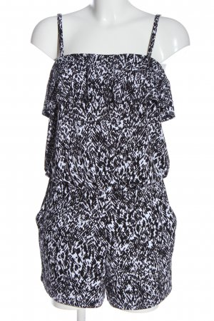 DKNY Kurzer Jumpsuit white-black allover print casual look
