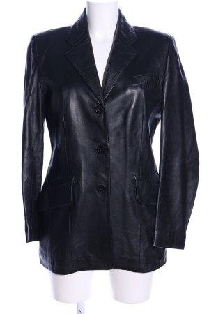 DKNY Leather Blazer black wet-look