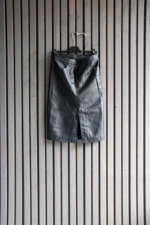 DKNY Jupe en cuir noir