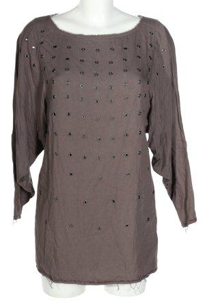 DKNY Long-Bluse hellgrau Casual-Look