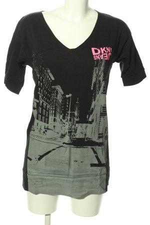 DKNY Camicia lunga Stampa a tema stile casual