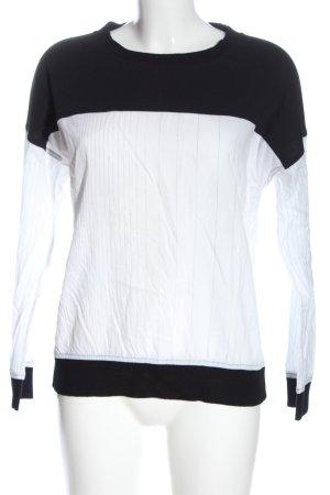 DKNY Manica lunga bianco-nero motivo a righe stile casual