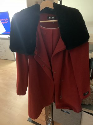 DKNY Winterjas zwart-donker oranje