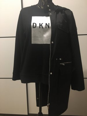 DKNY Hooded Coat black-silver-colored