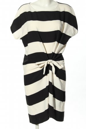 DKNY Midi Dress white-black striped pattern casual look