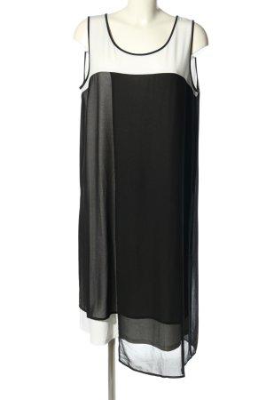 DKNY Midikleid schwarz-weiß Casual-Look