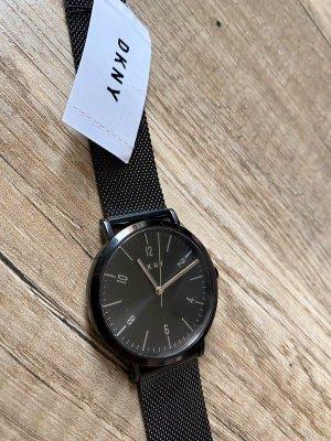 DKNY Reloj con pulsera metálica negro-color plata