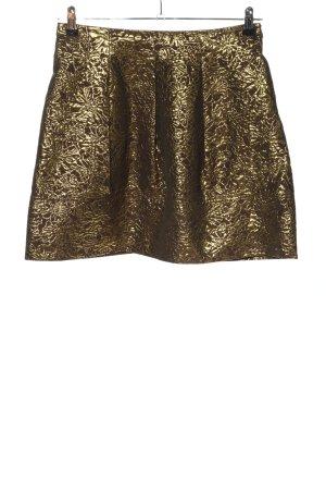 DKNY Mini rok goud volledige print extravagante stijl