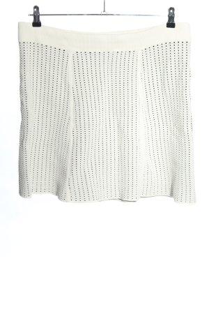DKNY Minigonna bianco-nero motivo a pallini elegante