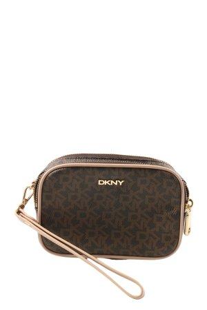 DKNY Borsetta mini marrone stampa integrale stile casual