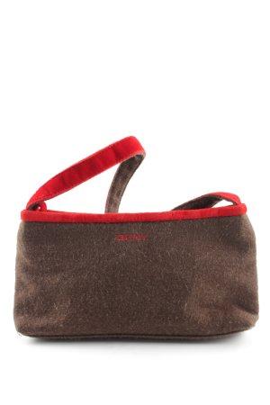 DKNY Minibolso marrón-rojo look Street-Style