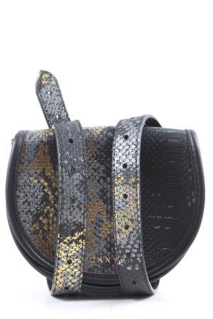 DKNY Borsetta mini nero-oro motivo animale stile casual