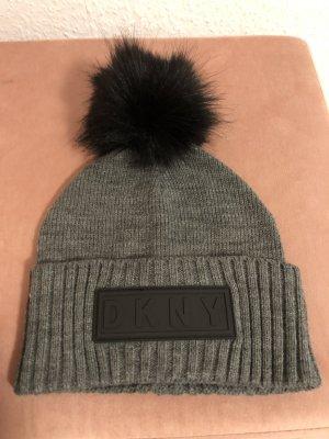 DKNY Sombrero de lana gris