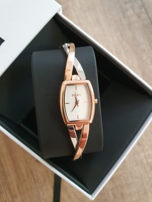 DKNY Reloj con pulsera metálica color plata-color rosa dorado