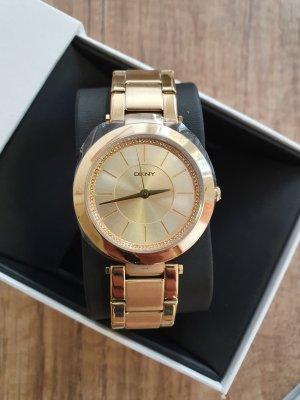 DKNY NY2286 stanhope Damenuhr Armbanduhr neu gold Zirkon Edel-stahl