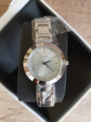 DKNY NY2398 Damenuhr ungetragen Armbanduhr silber Edel-stahl uhr
