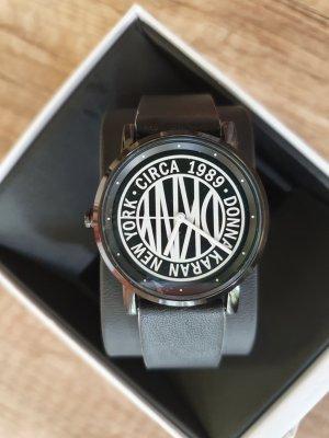 DKNY NY2765 Damenuhr Armband neu leder schwarz weiß Edel-stahl