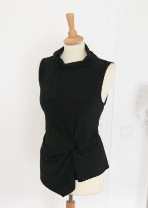 DKNY Top con colletto arrotolato nero