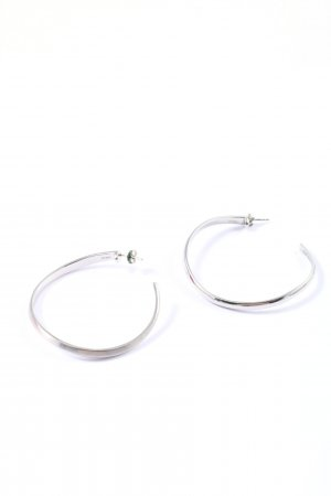 DKNY Ear stud silver-colored elegant
