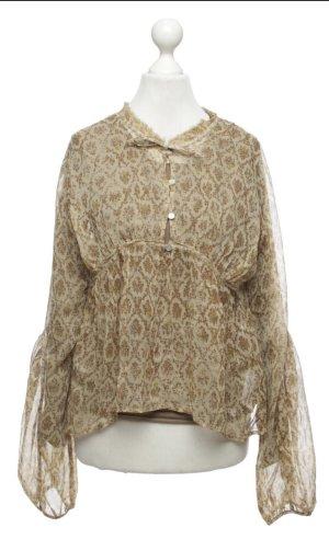 DKNY Blouse en soie chameau