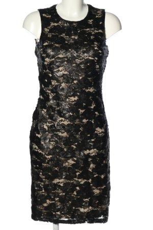 DKNY Pailettenkleid schwarz-wollweiß Elegant