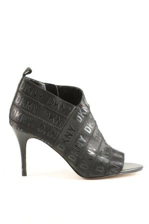DKNY Peeptoe Pumps schwarz Elegant