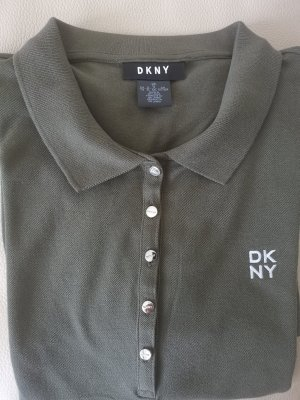 DKNY Polo Dress ocher-green grey