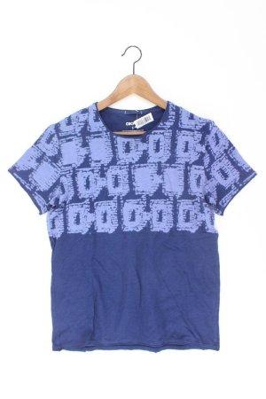DKNY T-shirt imprimé bleu-bleu fluo-bleu foncé-bleu azur coton
