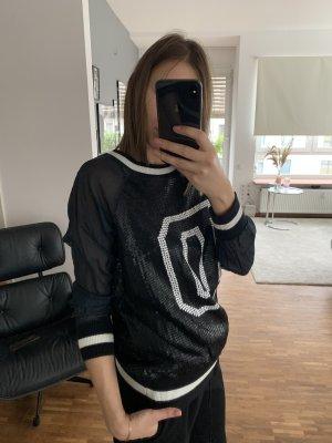 DKNY Jersey holgados negro-blanco
