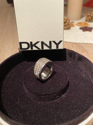 DKNY Anneau avec pierre decorative argenté