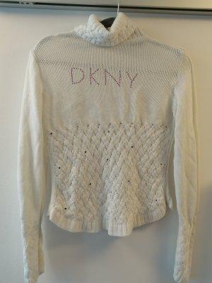 DKNY Pull-over à col roulé blanc laine