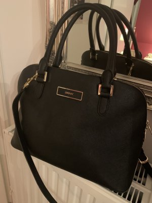 DKNY Satchel black-gold-colored leather